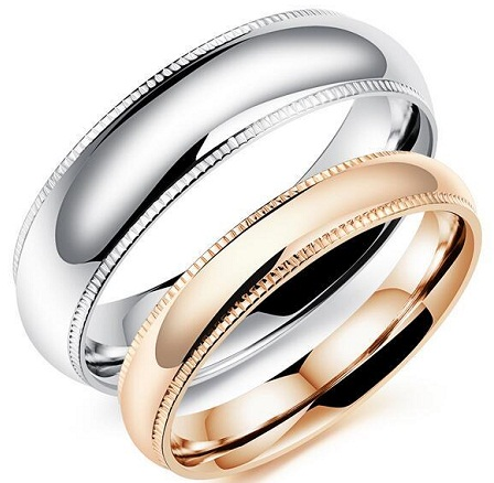 Contrast Couple Ring Set