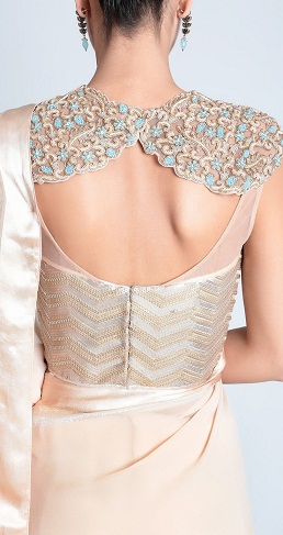Corset Blouse with Embroidery