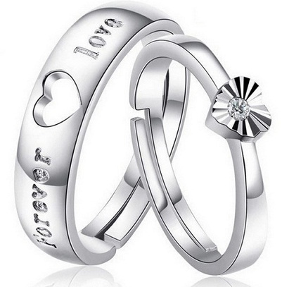 Couple Engagement Ring Set