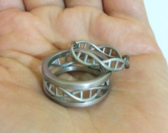 Couples DNA Wedding Ring Sets