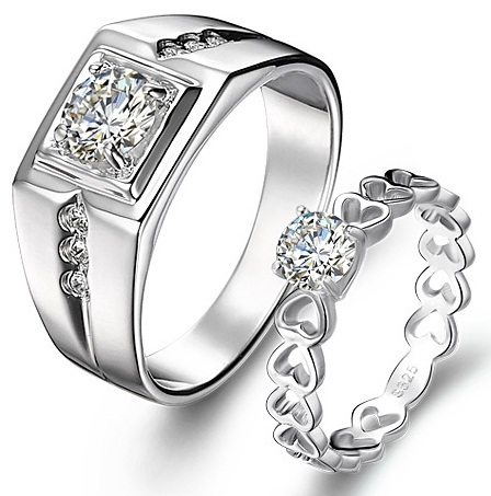 Couples exclusive ring set