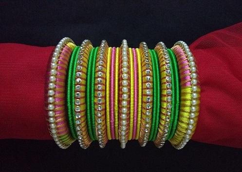 Creative Silk Thread Bangles