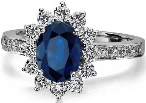 Dark Blue Diamond Ring