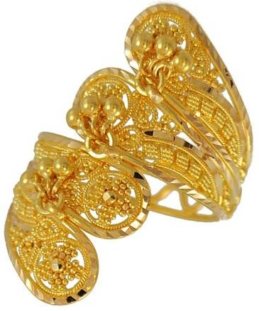 Designer Filigree Gold Ring