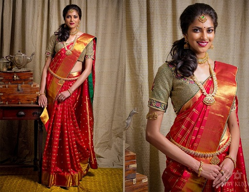 Designer Pattu Saree with Unique Blouse