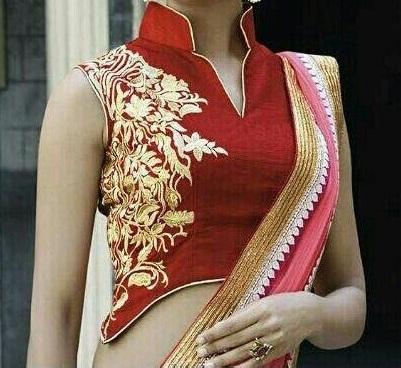 Designer Red Long Blouse