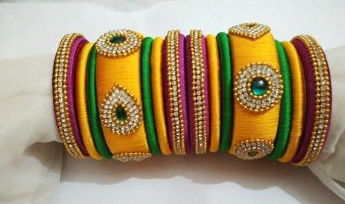 Designer Silk Thread Bangles