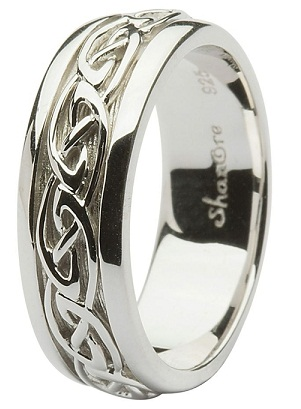 Designer Silver Wedding Ring for Men