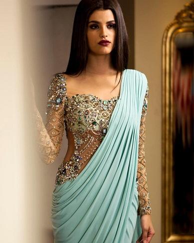 Designer stone blouse