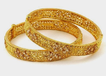 ee5ff83c59441 9 Best Designs of One gram Gold Jewellery Bangles