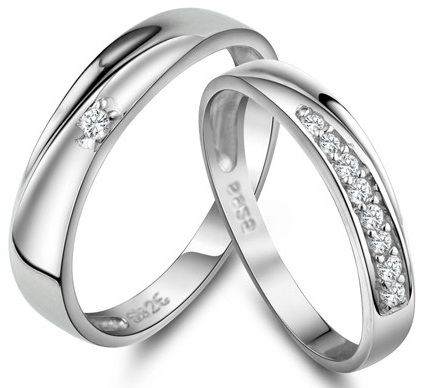 Diamond Engraved Ring for Couples
