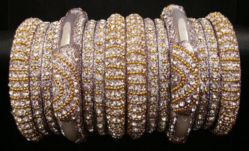 Diamond Wedding Bangles Set