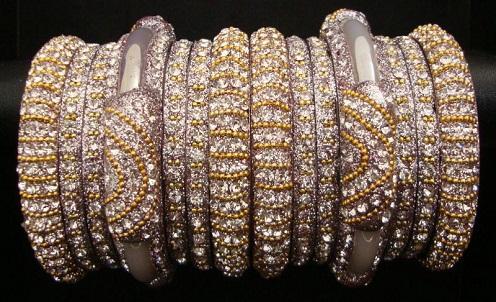 Diamond Wedding Bangles Set