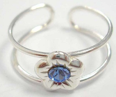 Double Band Silver Toe Rings