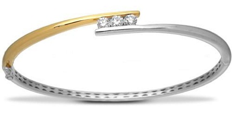 Double Tone-Solitaire Bangle