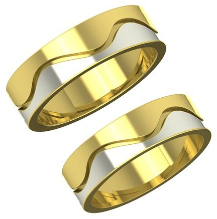Dual Gold Couple Ring