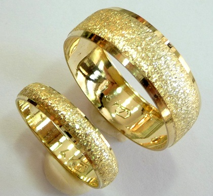 Dull Finishing Rings Bands for Couples