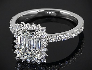 Emerald Cut 2- Carat Diamond Ring