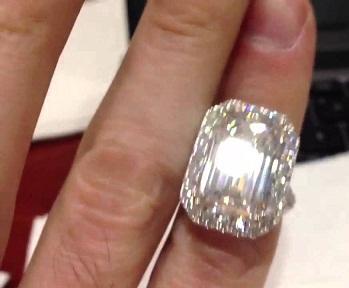 Emerald Cut Huge Diamond Ring