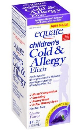 Equate Children s Cold and Allergy Syrup
