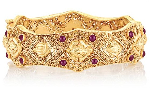 Ethnic Gold Single Bangle