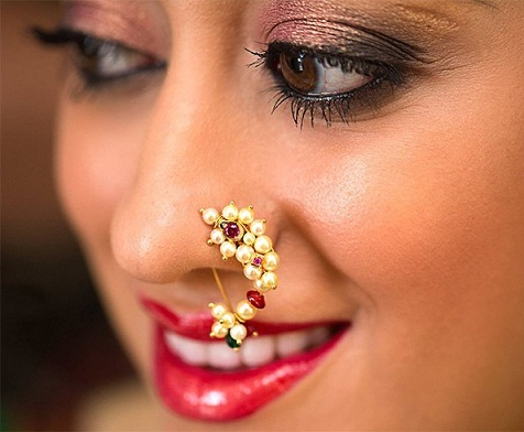 Ethnic Maharashtra Style Big Nose Ring