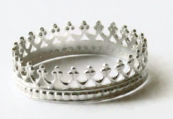 Extra Thin Sterling Silver Ring in Crown Shape