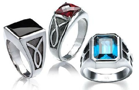 Fancy Silver Rings with Stones for Men