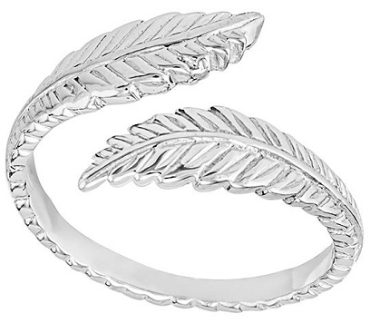 Feathered Silver Toe Rings