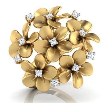 Floral Designer Wedding Ring