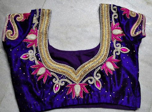 Floral Design Maggam Work Blouses