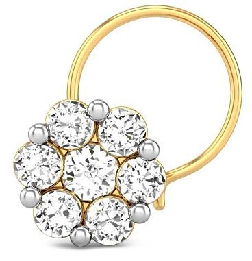 Flower Shape Diamond Nose Ring