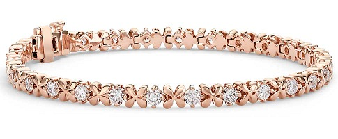 Flower Shaped Rose Gold Bangle