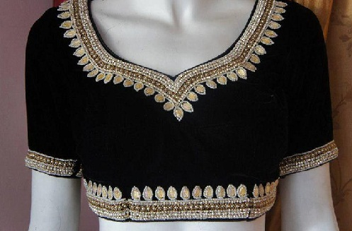 Front Neck Design Maggam Work Blouses
