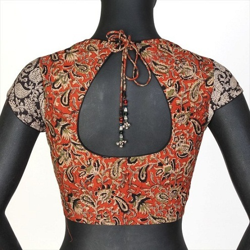 Full Embroidered Pot Neck Blouse