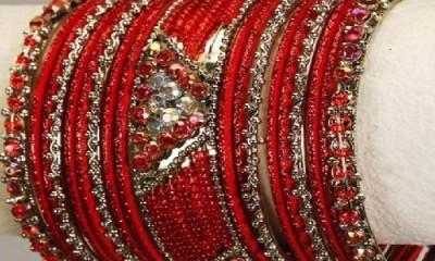 Glass Bridal Bangles