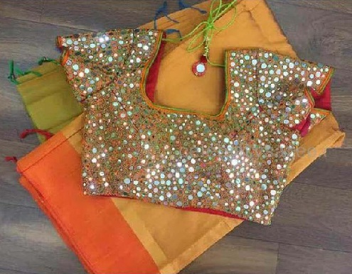 Glasswork Readymade Blouse
