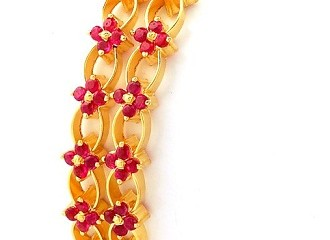 Gold Bangle with Ruby Stone