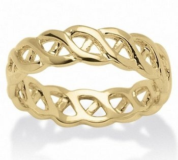 Gold Braided Engagement Ring