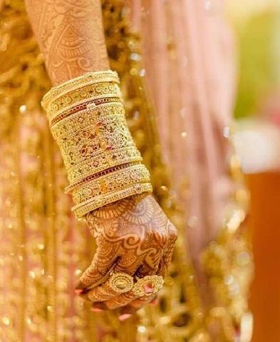 Gold Bridal Bangles