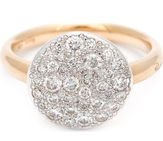 Gold Diamond French Pave Rings