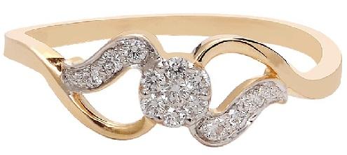 Gold Diamond Infinity Rings