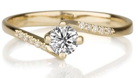 Gold Diamond Rings for Girls