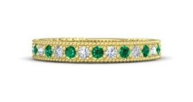 Gold-Emerald-Solitaire Bangle