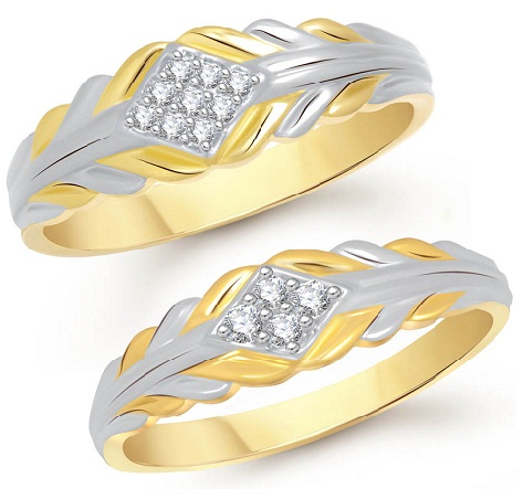 Gold Rhodium Plated Couples Ring