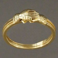 Gold Ring with Hand Designed Engagement Ring