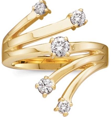 Gold and Diamonds Designer Rings for Girls