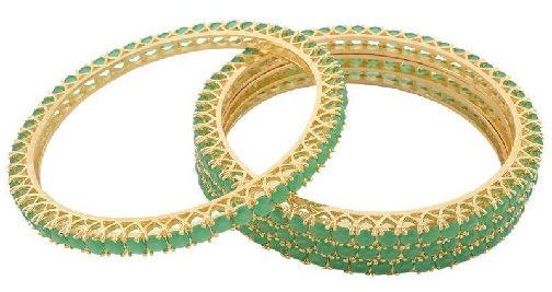 Green American Diamonds Bangles