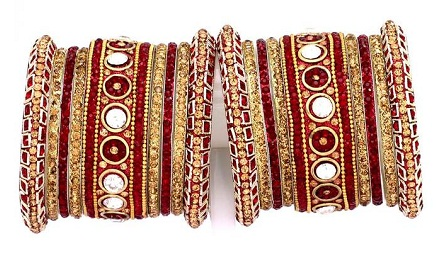 Gujarati and Rajasthani Bridal Bangle Sets