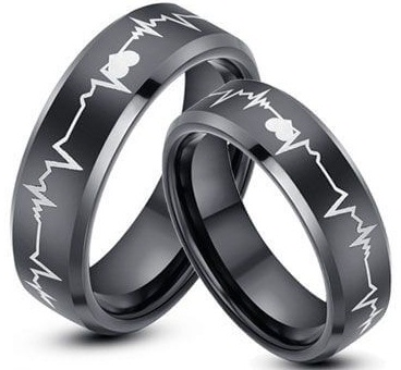 Heart Beat Couple Promise Ring